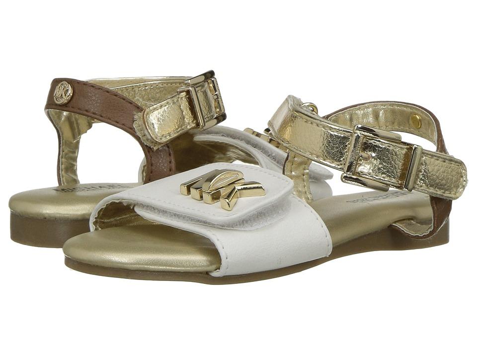 MICHAEL Michael Kors Kids - Demi Lock (Toddler) (White/Gold) Girls Shoes
