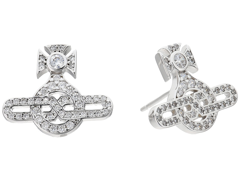 Vivienne Westwood - Infinity Orb Stud Earrings (White Cubic Zirconia 1) Earring