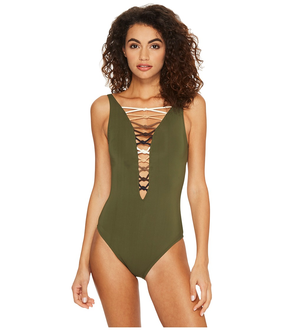 Bleu Rod Beattie Oh So Knotty Lace Down OTS Mio (Amazon Green/Neutral) Women