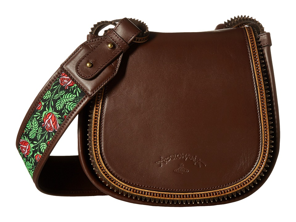 Vivienne Westwood Heidi Medium Crossbody Bag (Brown) Cros...