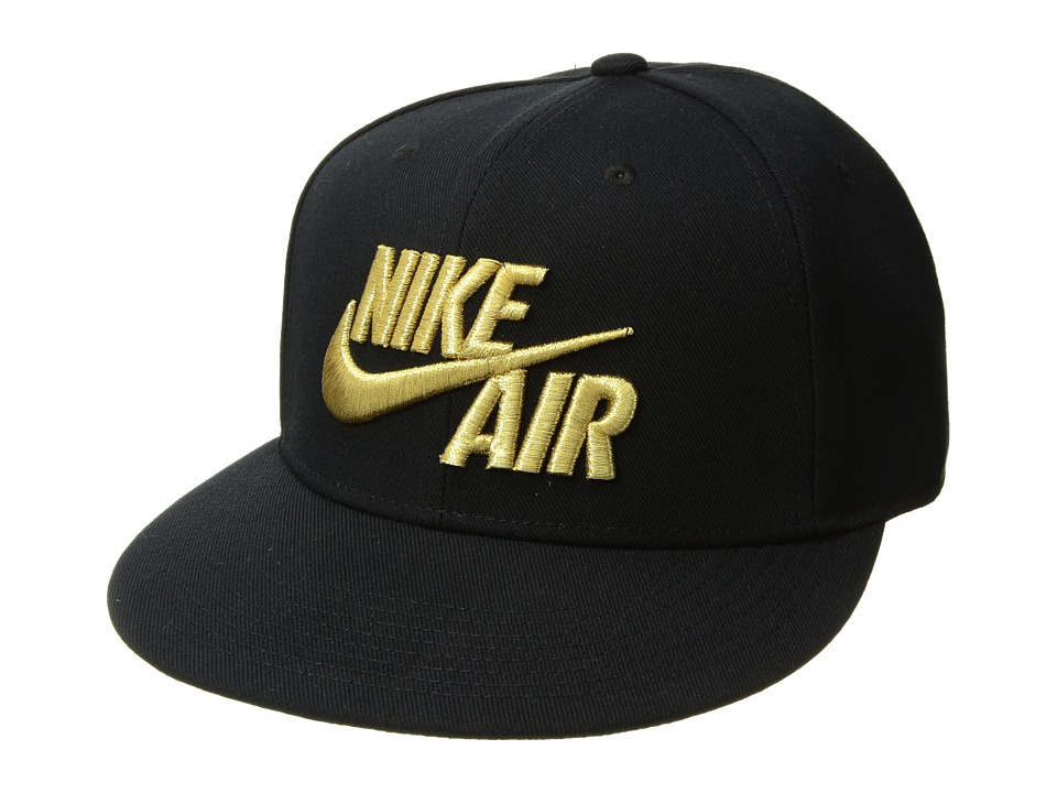 Nike - Air True Cap Classic (Black/Black/Metallic Gold) Caps