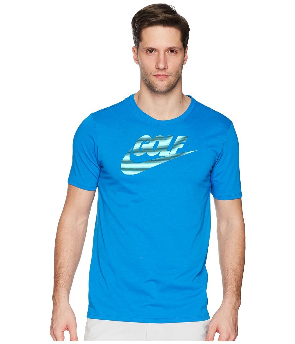 Nike Golf Graphic Tee (Blue Nebula/Green Glow) Men