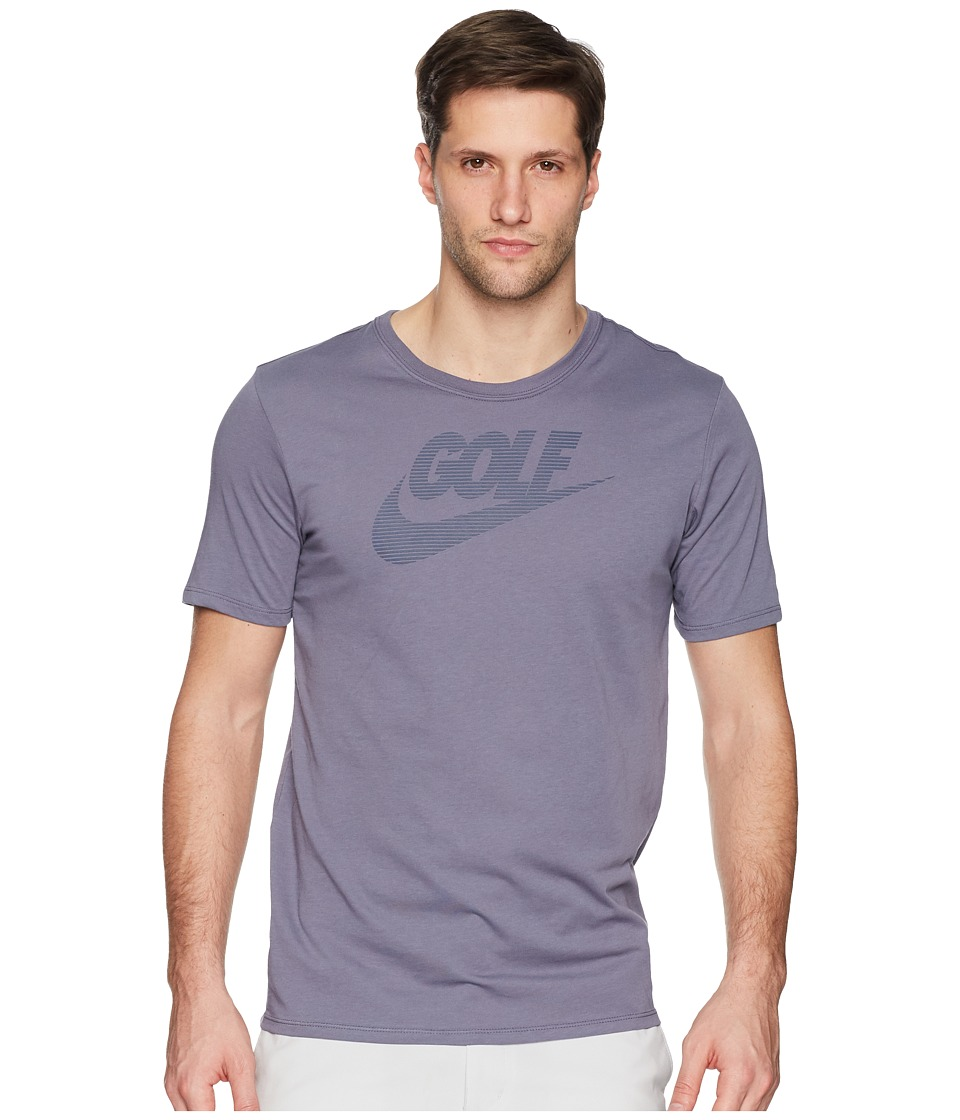 Nike Golf Graphic Tee (Light Carbon/Thunder Blue) Men