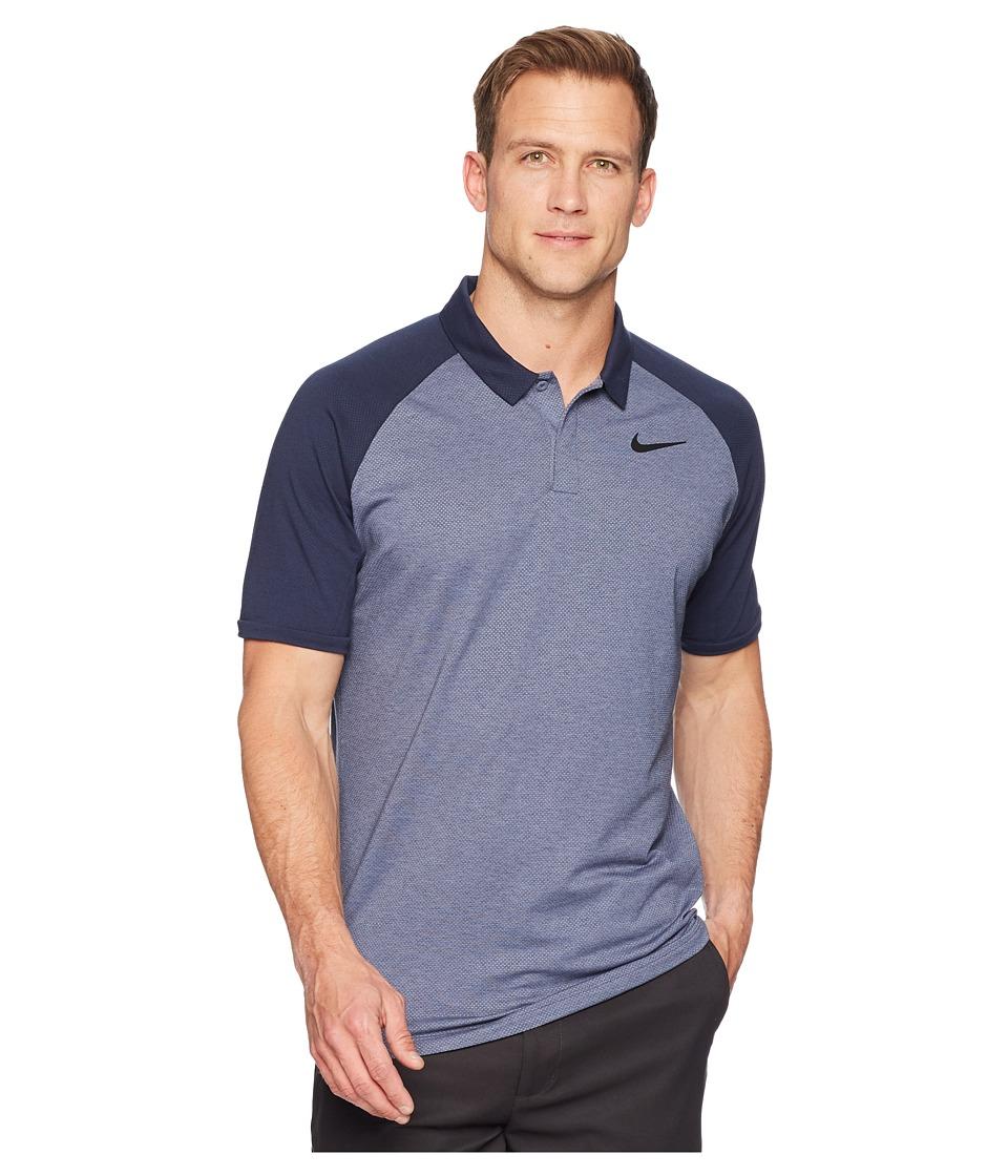 Nike Golf - Dry Polo Raglan (Light Carbon/Obsidian/Heather/Black) Mens Clothing