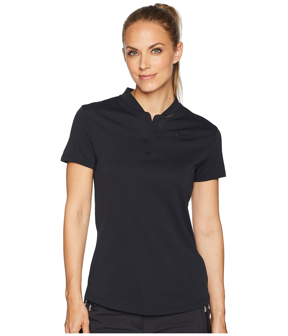 Nike Golf - AeroReact Polo Short Sleeve (Black/Black) Womens Short Sleeve Pullover