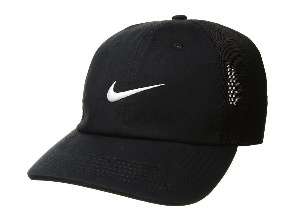 Nike - AeroBill Heritage 86 Cap (Black/Black/White) Caps