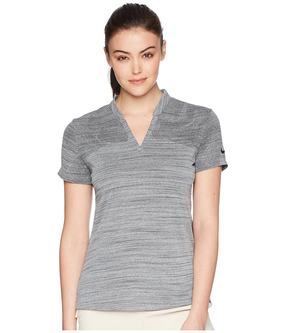 Nike Golf - Zonal Cooling Polo Short Sleeve Sub Jacquard (Black/Black) Womens Short Sleeve Pullover