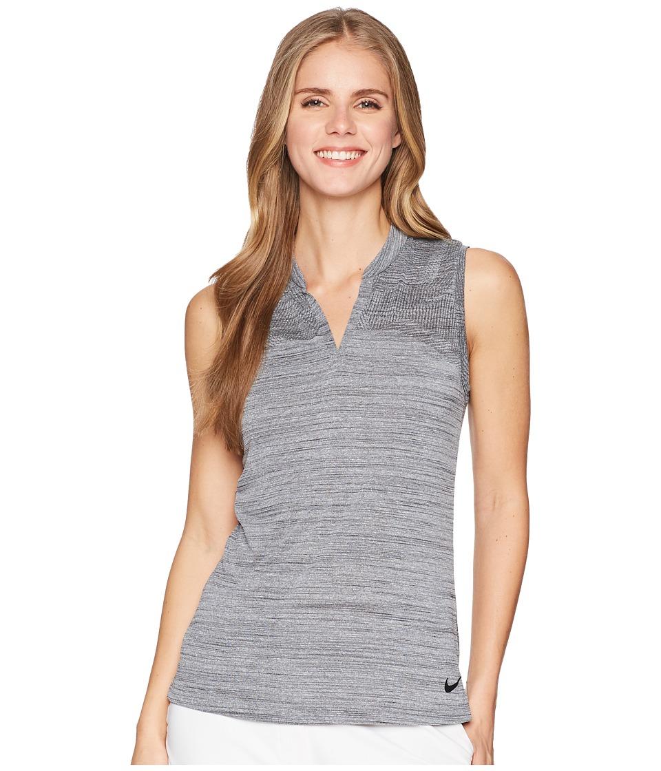 Nike Golf - Zonal Cooling Polo Sleeve Sub Jacquard (Black/Black) Womens Clothing