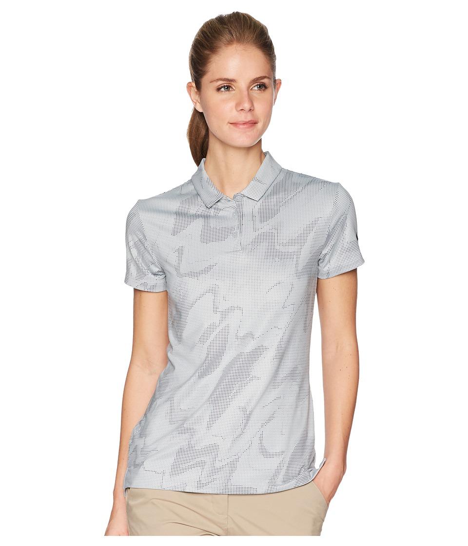 Nike Golf - Dry Polo Short Sleeve Sub Print (Wolf Grey/Black) Womens Short Sleeve Pullover