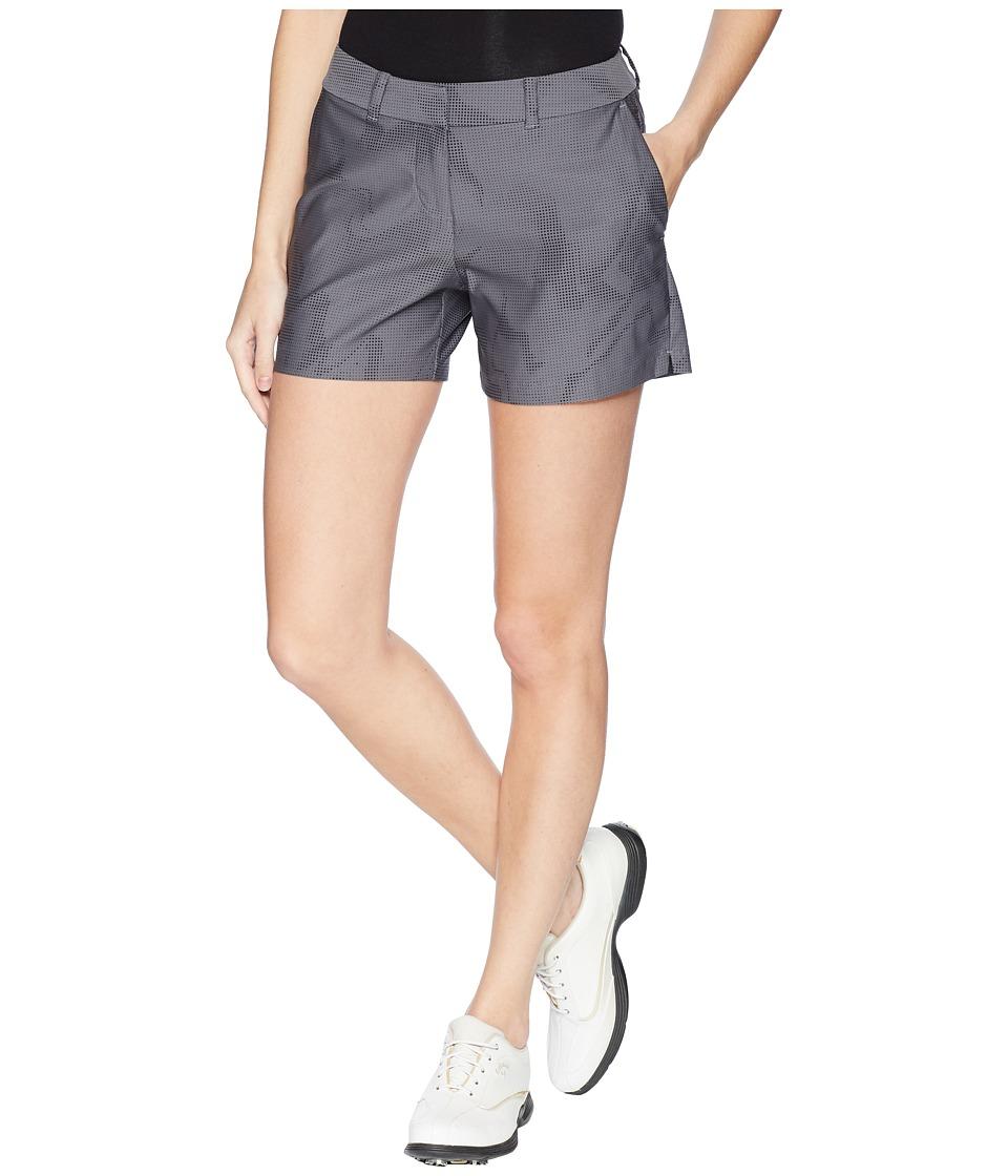 Nike Golf - Woven 4.5 Sub Print Flex Shorts (Dark Grey/Black/Black) Womens Shorts