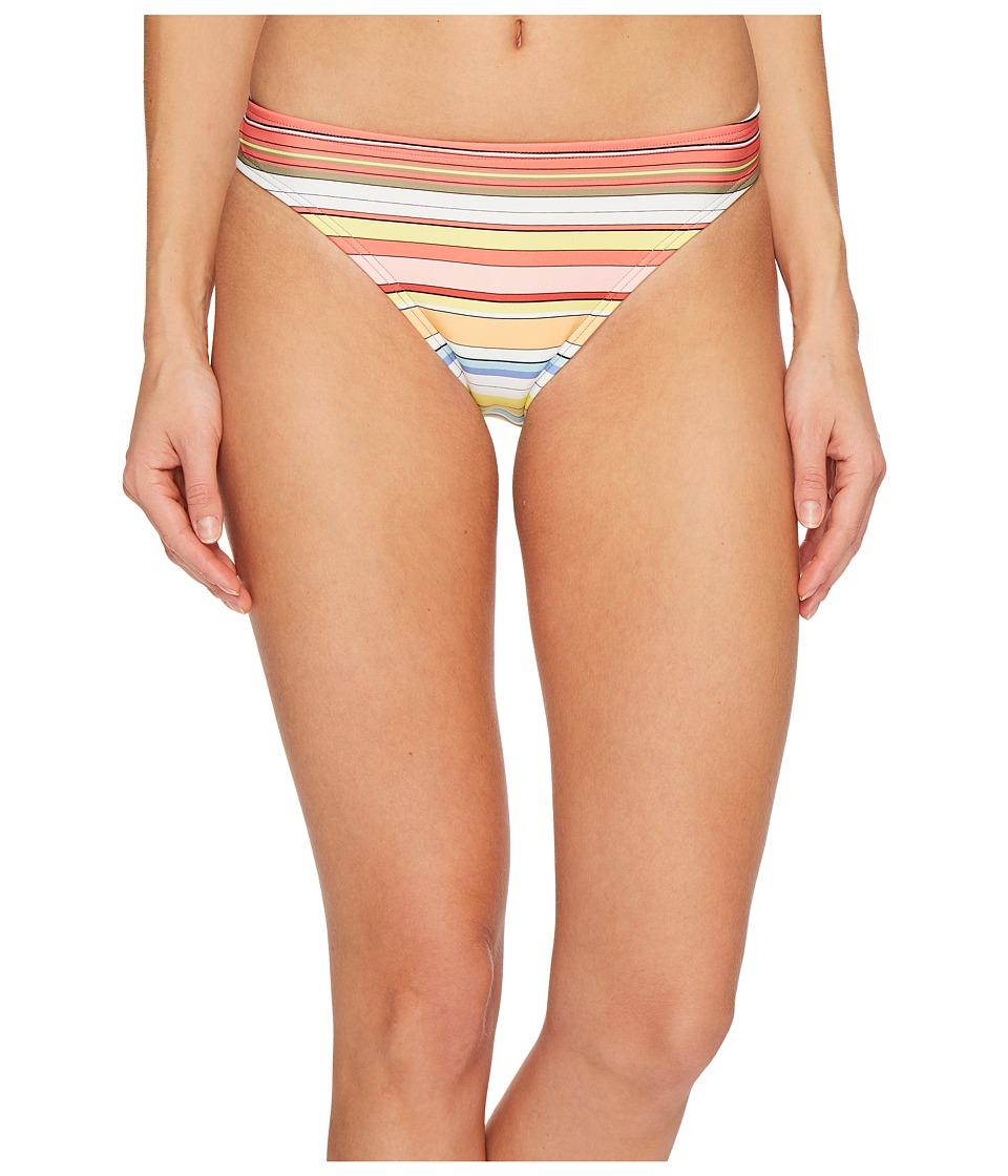 Vince Camuto Cabana Stripes Classic Bikini Bottoms (White Multi)