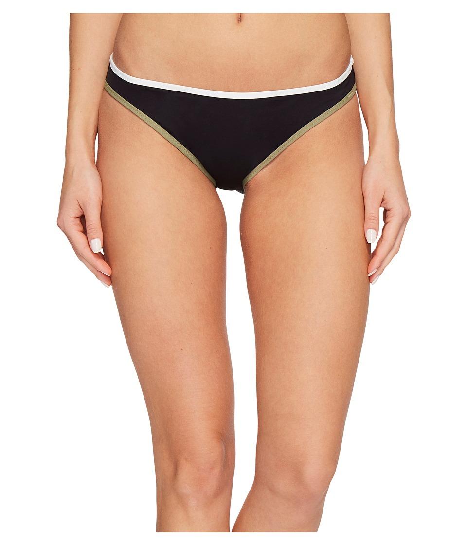 Vince Camuto Sun Block Solids Contrast Binding Reversible Bikini Bottoms (Black)