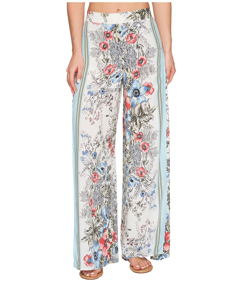 Vince Camuto Wrap Cover-Up Pants (White Multi)