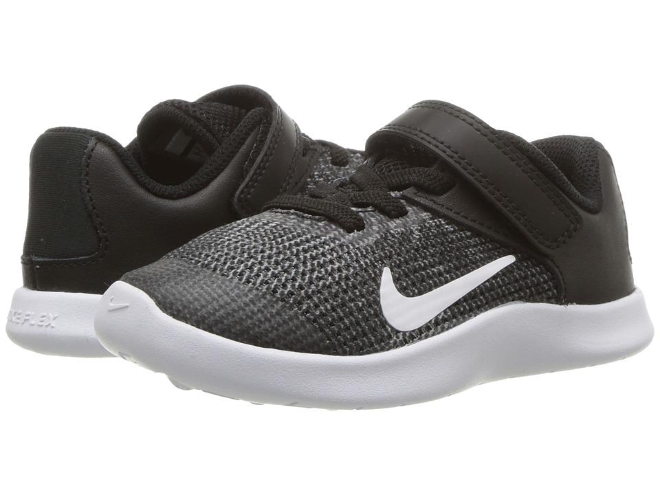 Nike Kids - Flex RN 2018 (Infant/Toddler) (Black/White) Boys Shoes