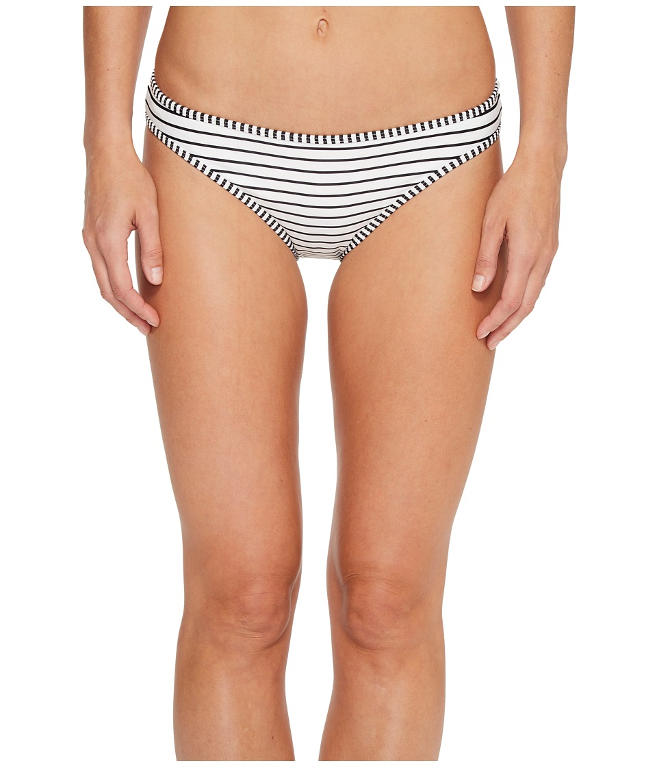 Vince Camuto Blossom Stripes Contrast Binding Bikini Bottoms (Black)