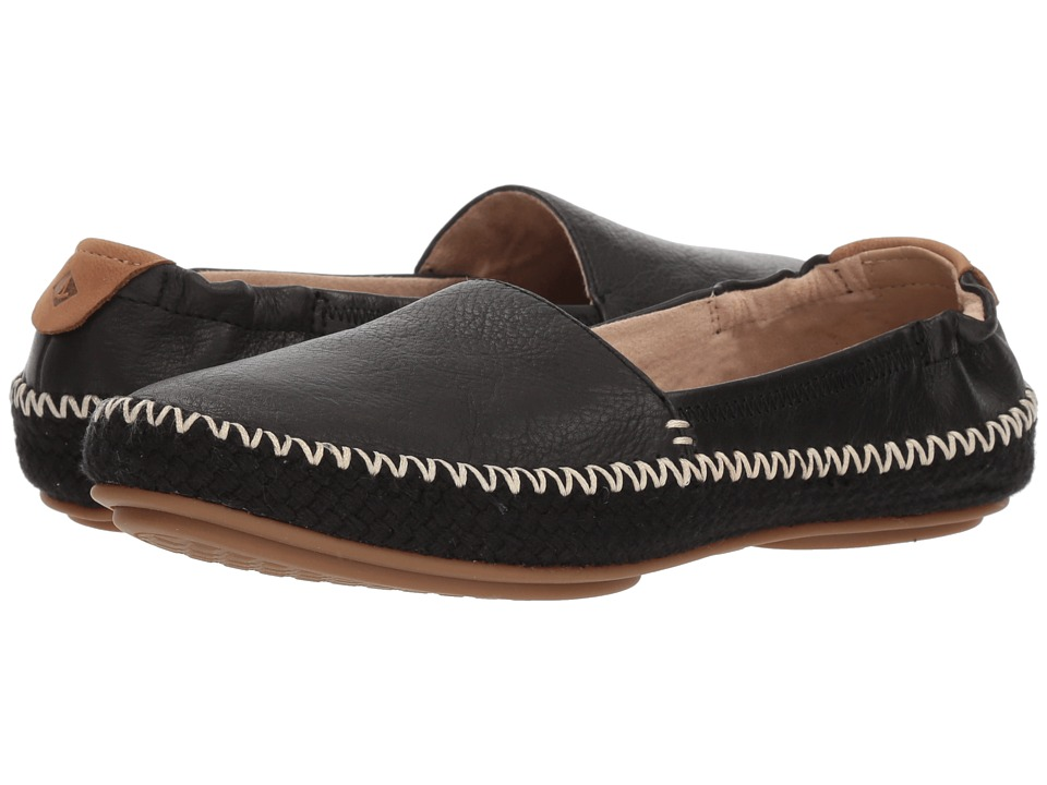Sperry Sunset Ella Leather (Black) Slip-On Shoes