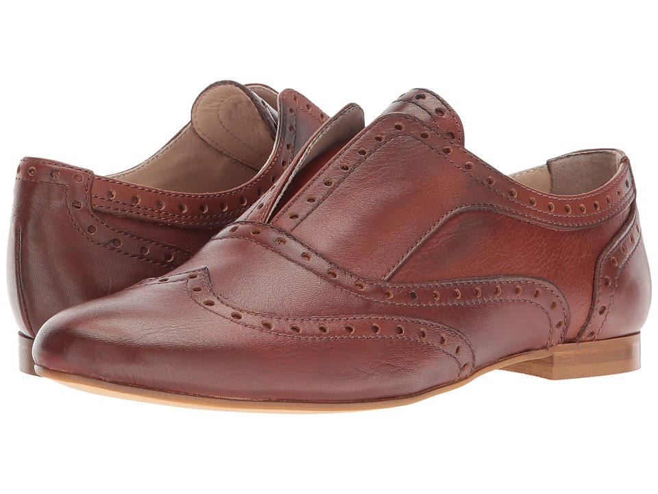 Massimo Matteo Laceless Wing Oxford (Cuoio) Women's Shoes