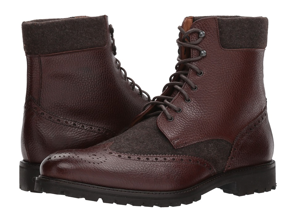 Massimo Matteo - Mix Media Wing Boot (Chocolate) Men's Dr...