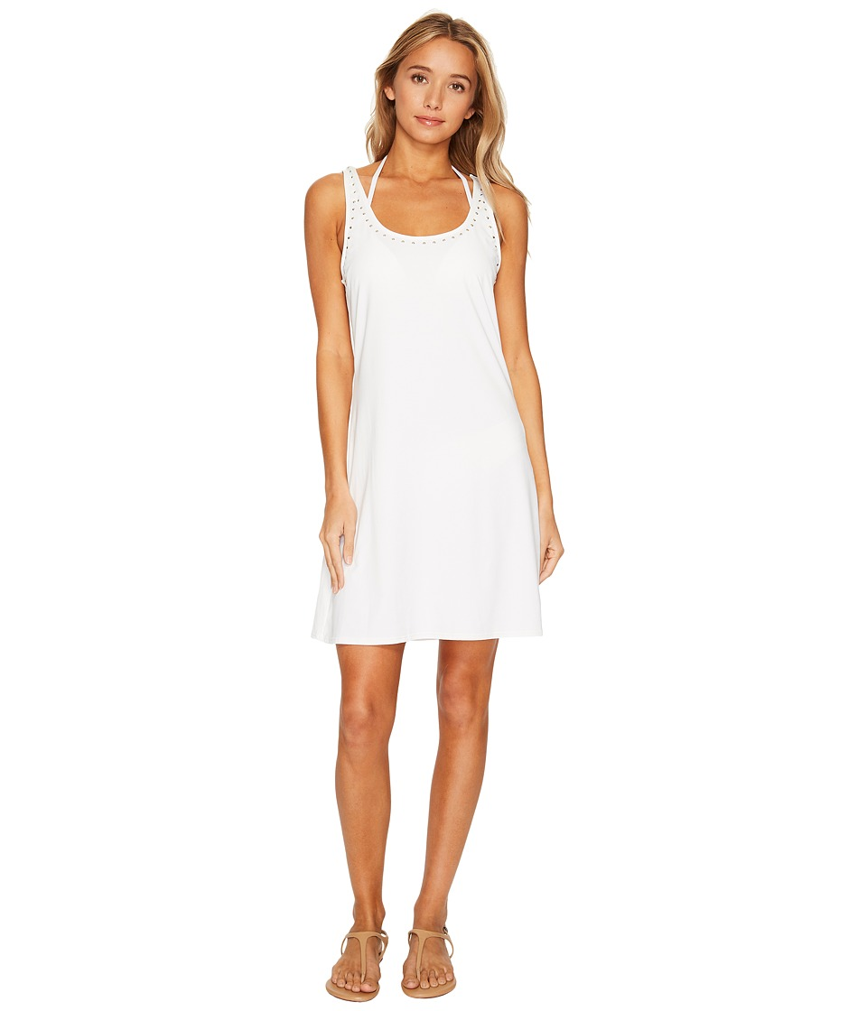 MICHAEL Michael Kors Luxe Studs Tank Cover-Up w/ Studs (White) Women