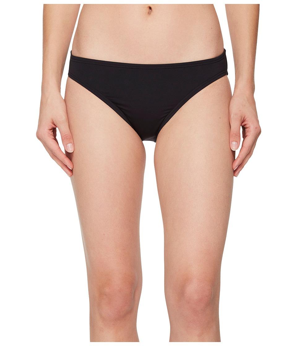 MICHAEL Michael Kors Geometric Glamour Solids Classic Bikini Bottoms (Black)