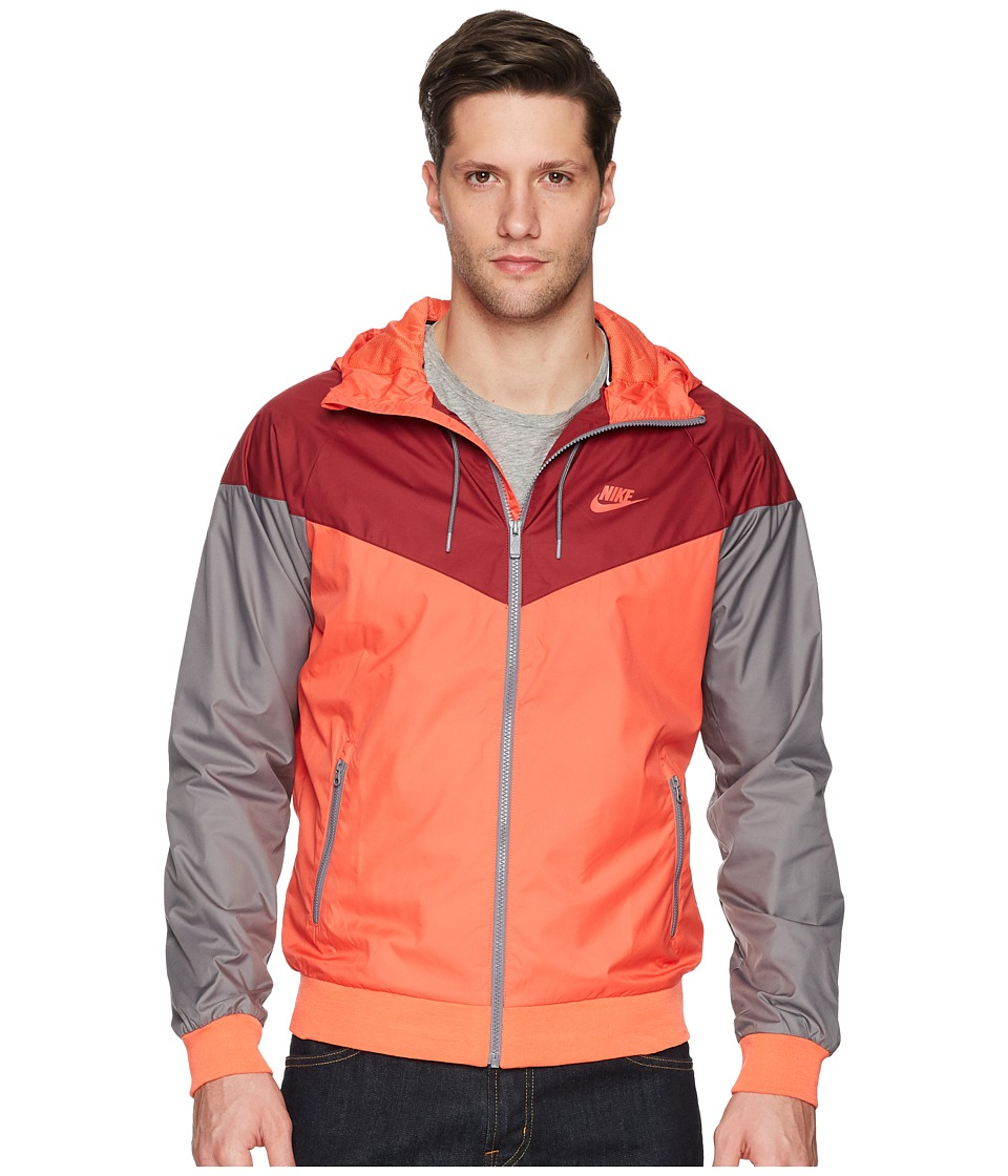 Nike - Sportwear Windrunner Jacket (Rush Coral/Team Red/Gunsmoke/Rush Coral) Mens Coat
