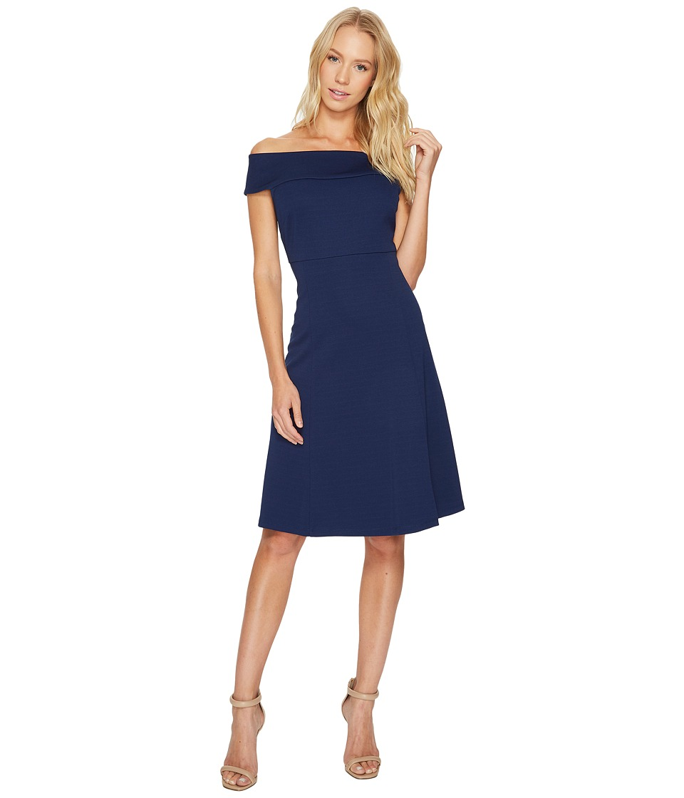 Adrianna Papell - Off Shoulder Fit Flare Dress