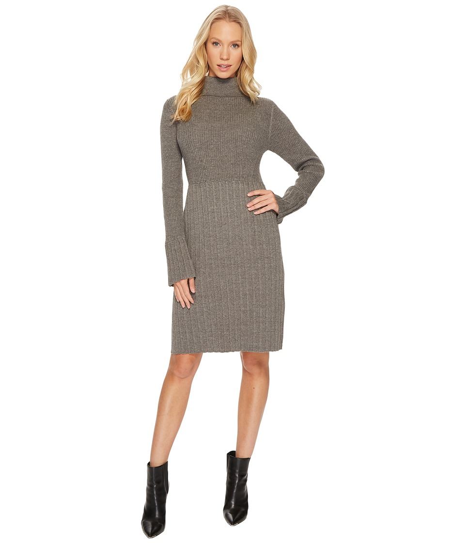 Adrianna Papell - Turtleneck Slim Sweater Dress