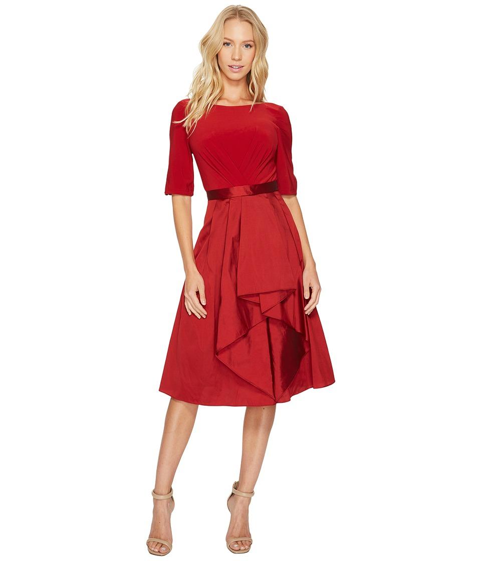 Adrianna Papell - Origami Taffeta and Jersey Dress