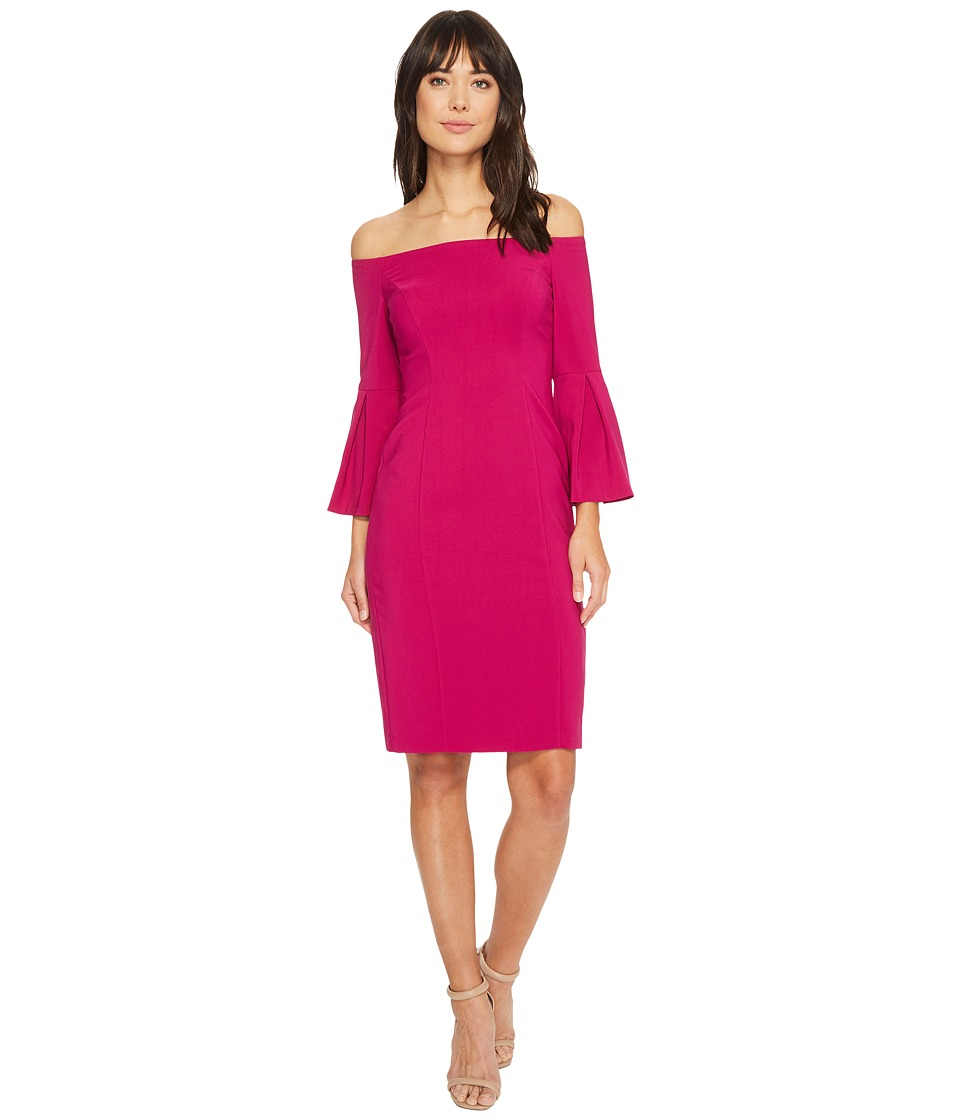 Vince Camuto Crepe Bodycon Dress w/ Flounce Sleeves (Orchid) Women