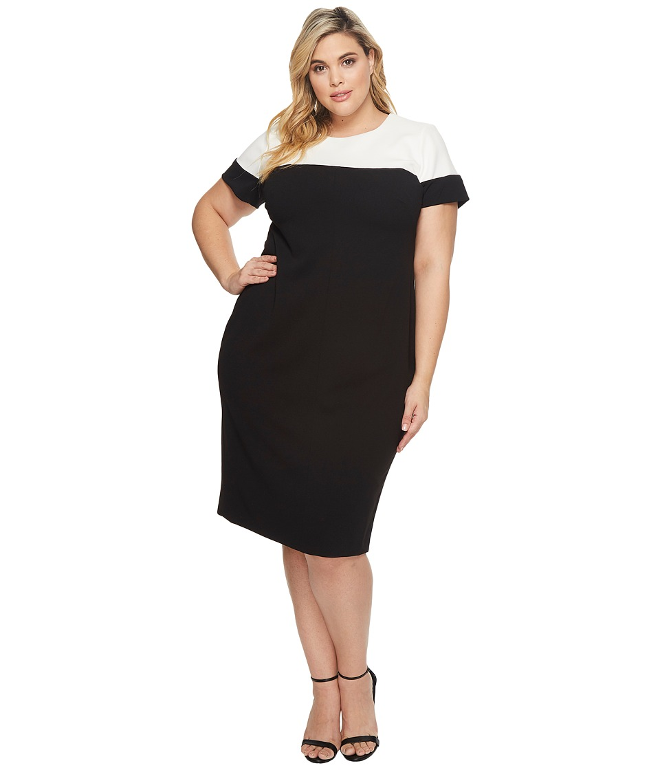 Adrianna Papell - Plus Size Stretch Crepe Sheath
