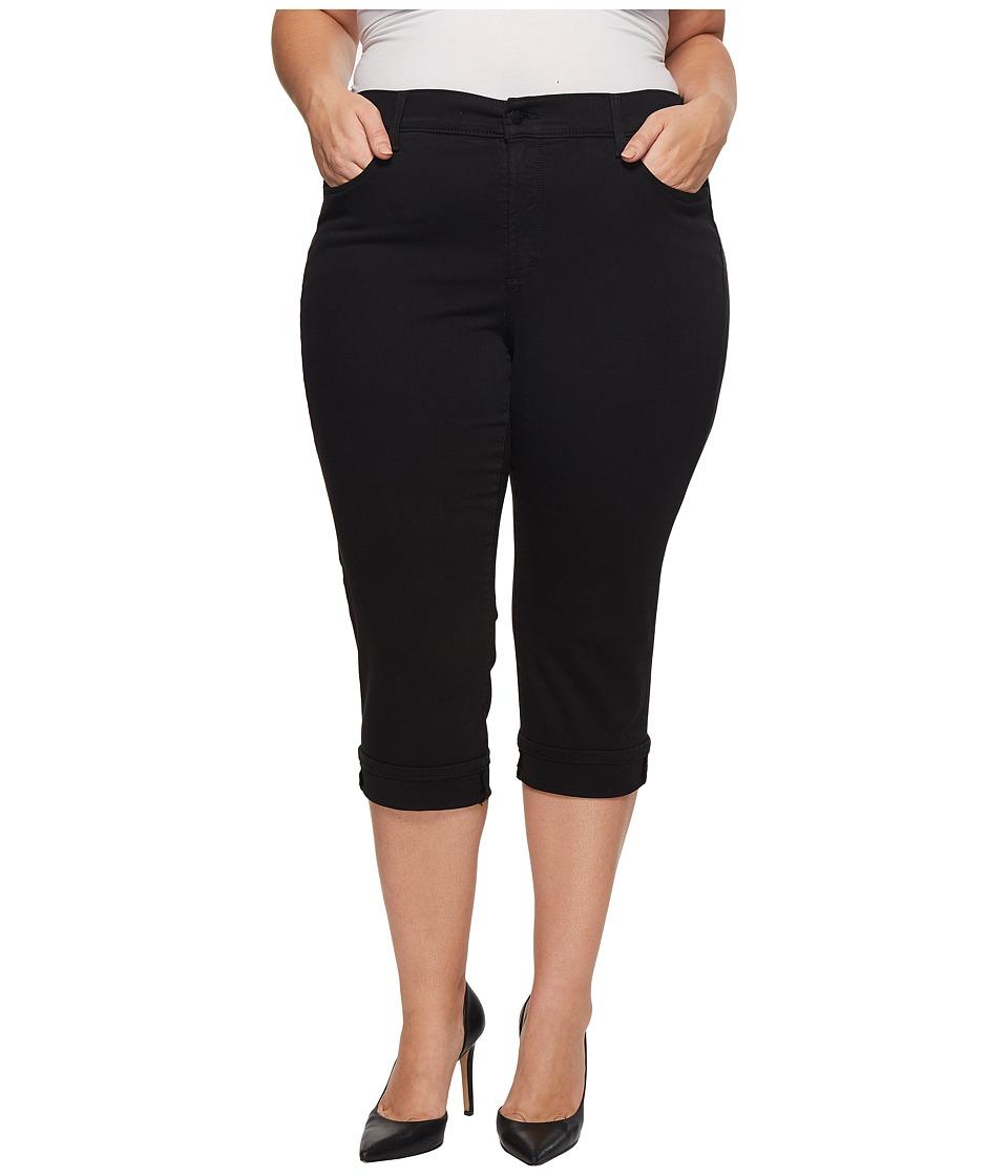 NYDJ Plus Size - Plus Size Marilyn Crop Cuff in Black (Black) Womens Jeans