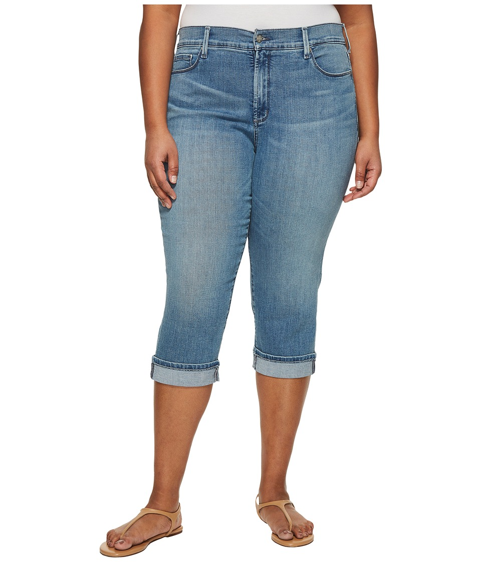 NYDJ Plus Size - Plus Size Marilyn Crop Cuff in Pacific (Pacific) Womens Jeans