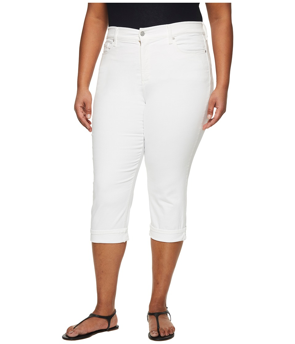 NYDJ Plus Size - Plus Size Marilyn Crop Cuff in Optic White (Optic White) Womens Jeans
