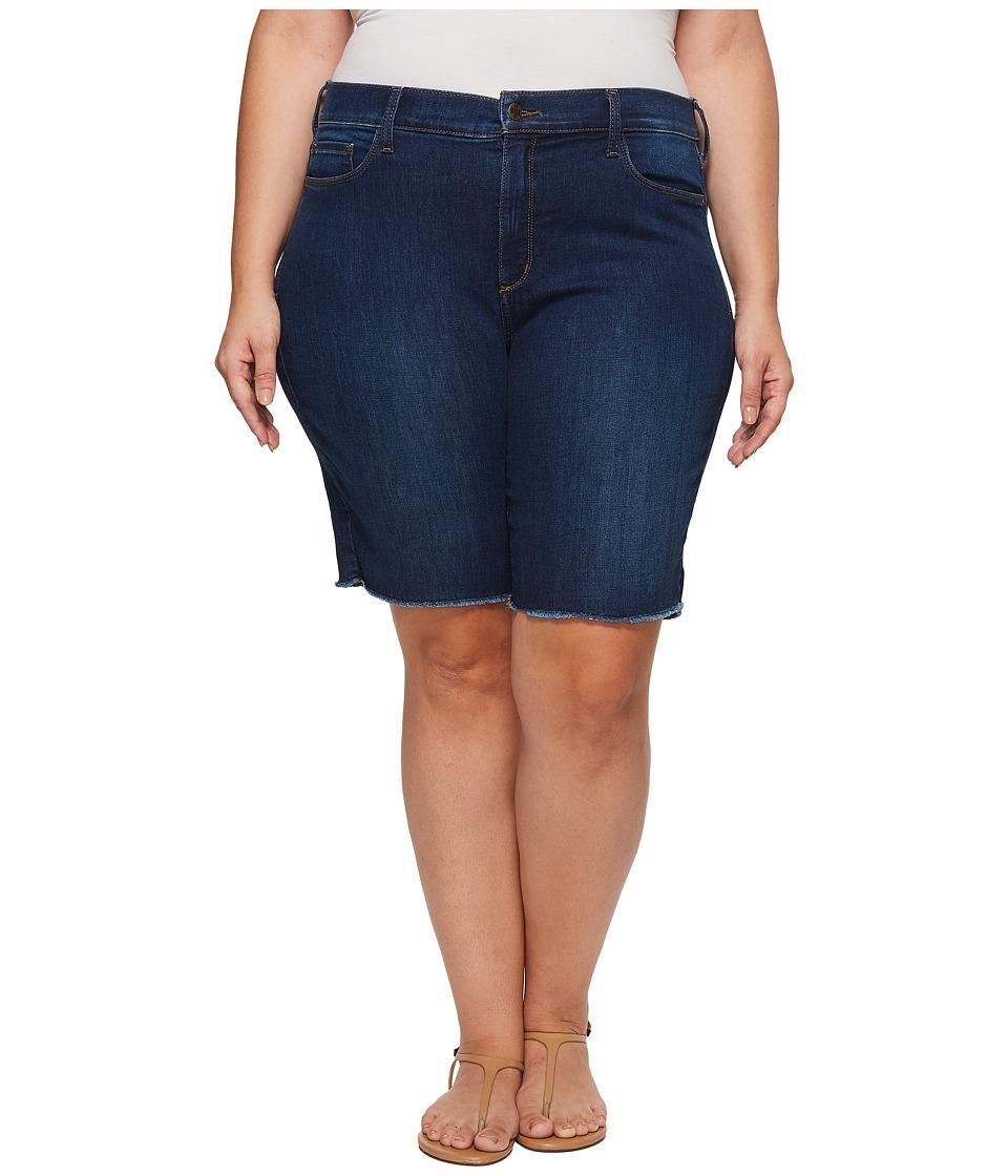 NYDJ Plus Size - Plus Size Briella Shorts w/ Fray Hem in Cooper (Cooper) Womens Shorts
