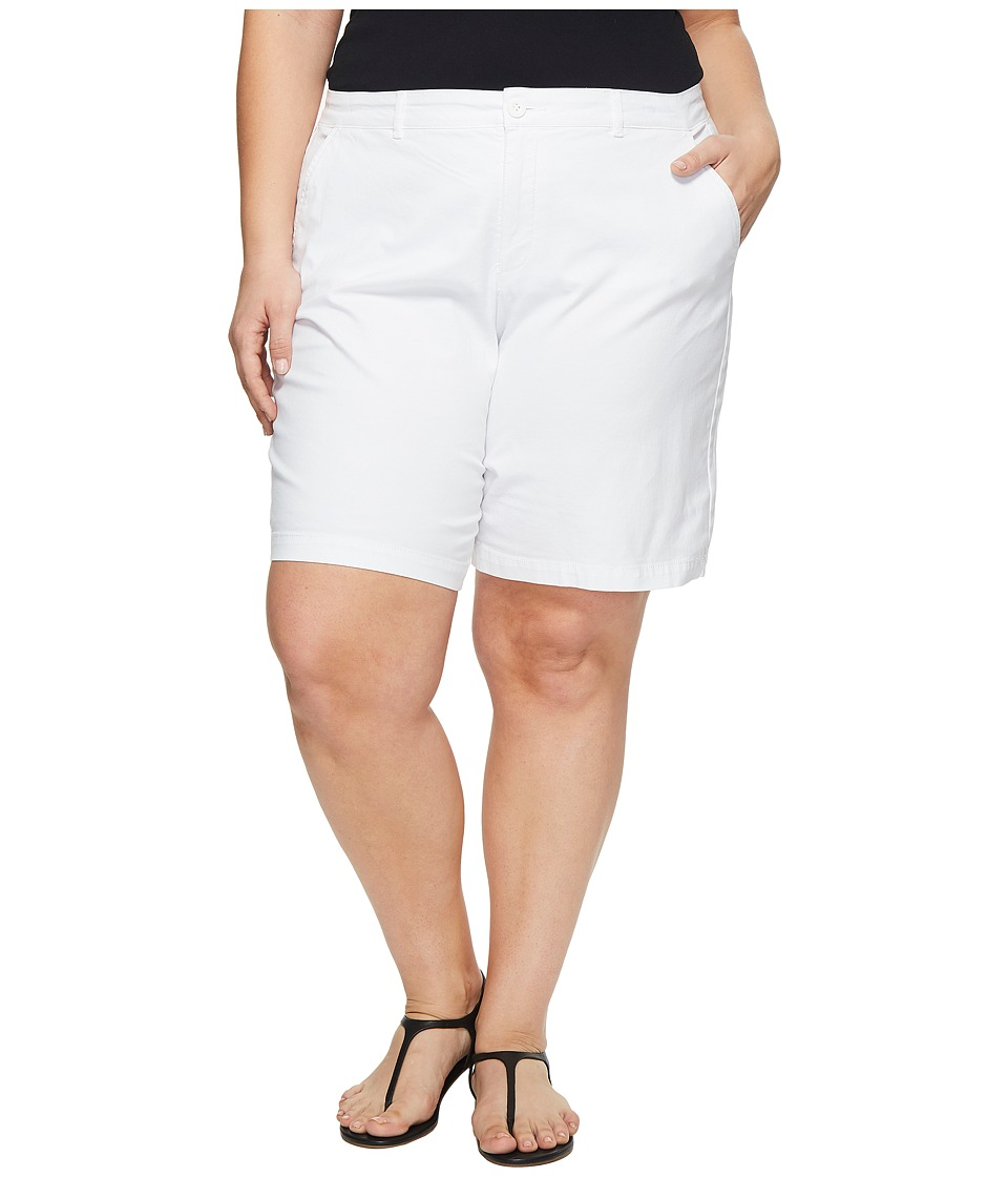 NYDJ Plus Size - Plus Size Bermuda Shorts (Optic White) Womens Shorts