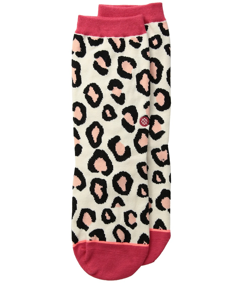 Stance Right Meow Everyday (Toddler/Little Kid/Big Kid) (Red) Women's Crew Cut Socks Shoes