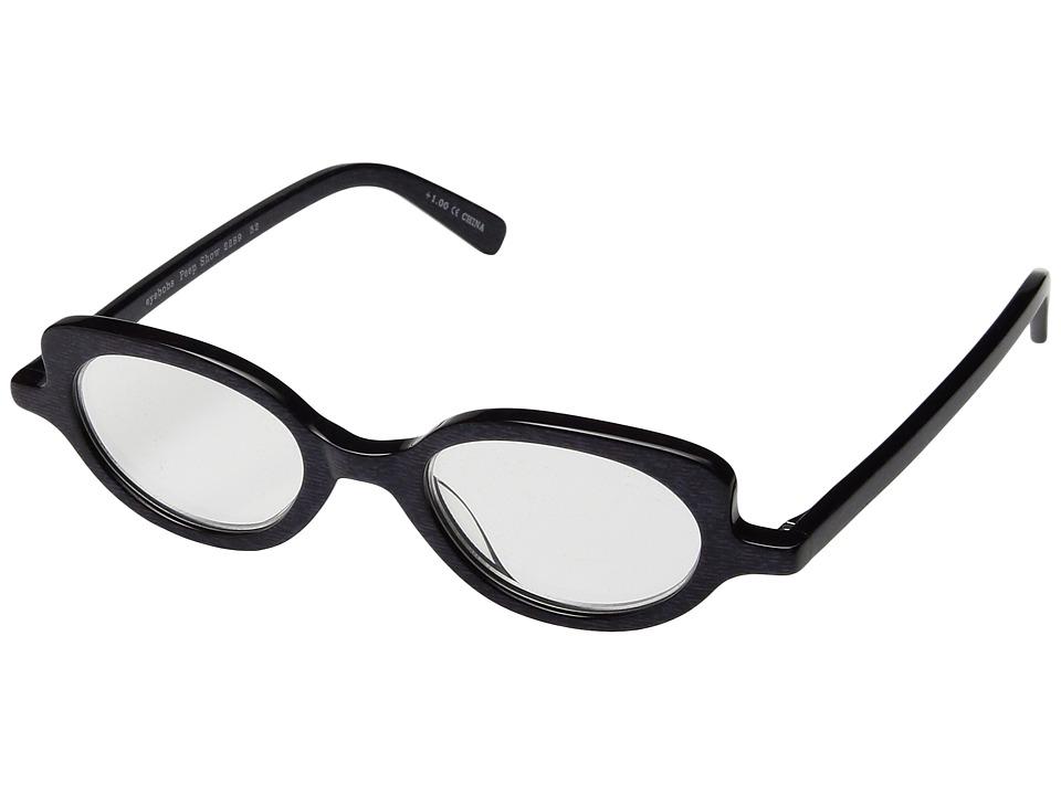 eyebobs - Peep Show (Black/Gold) Reading Glasses Sunglasses