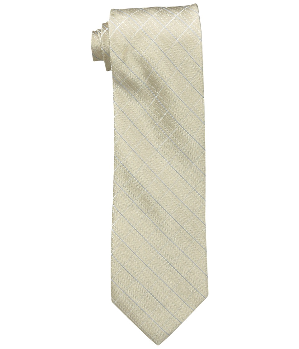 Calvin Klein Etched Windowpane B (Taupe) Ties