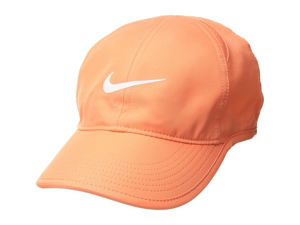 Nike - Featherlight Cap - Womens (Light Wild Mango/Black/Light Wild Mango/White) Baseball Caps