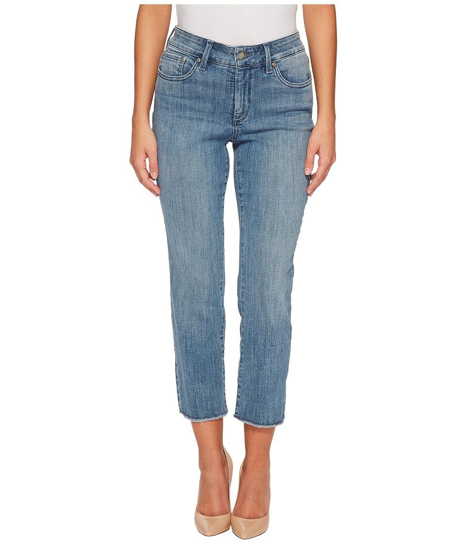 NYDJ Petite - Petite Sheri Slim Ankle w/ Fray Hem in Maxwell (Maxwell) Womens Jeans
