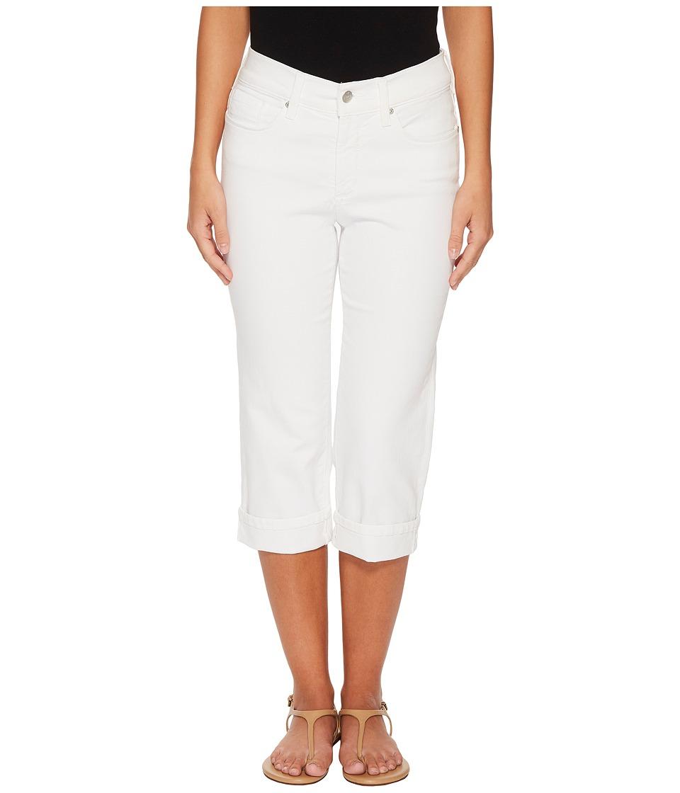 NYDJ Petite - Petite Marilyn Crop Cuff in Optic White (Optic White) Womens Jeans