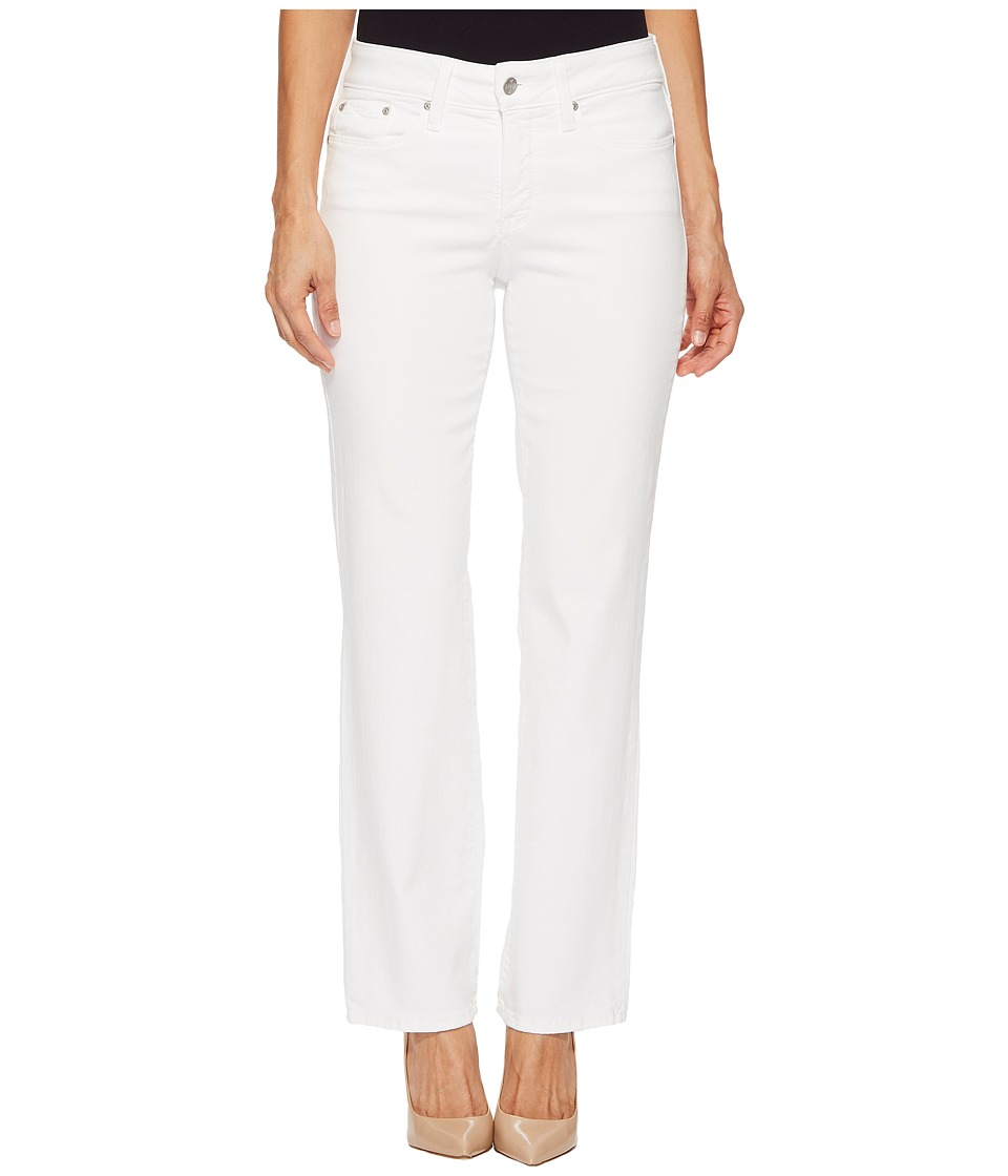 NYDJ Petite - Petite Marilyn Straight in Optic White (Optic White) Womens Jeans