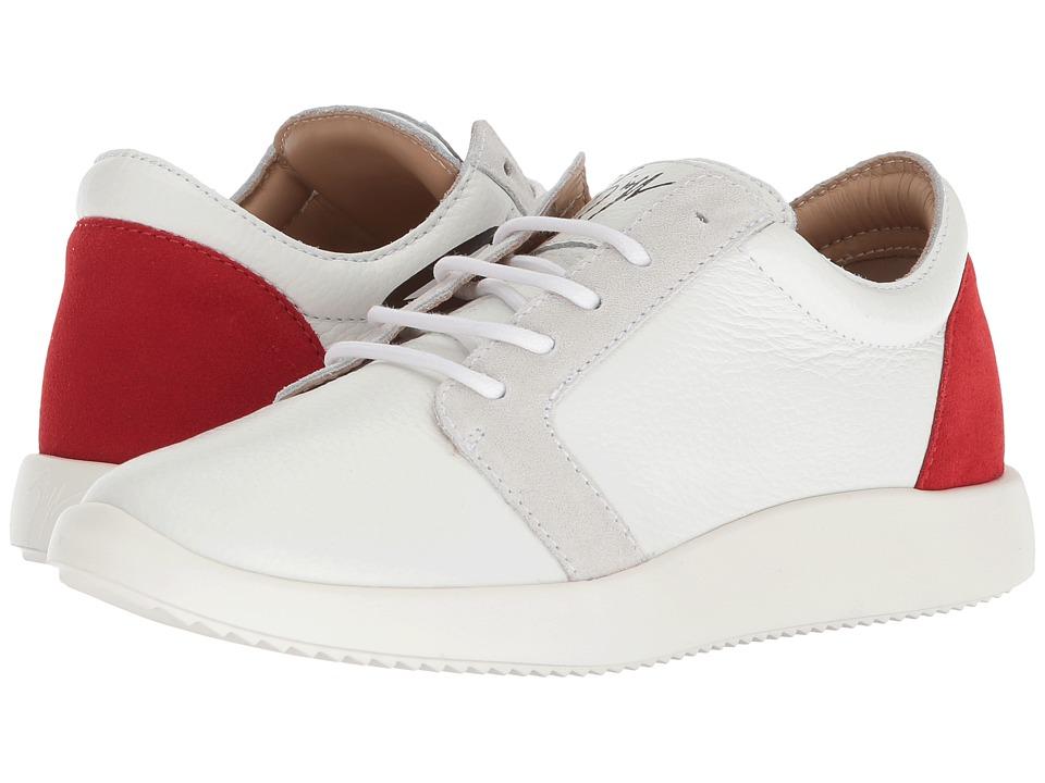 Giuseppe Zanotti RS80078 (Lindos Bianco/Red) Women's Shoes