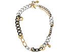 Versace Mixed Metal Link Necklace