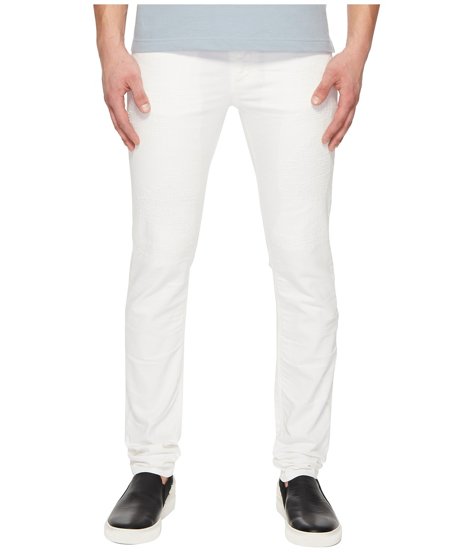 Versace Jeans Distressed Jeans in White (White) Men's Jeans