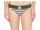 MICHAEL Michael Kors Stable Stripe Logo Ring Classic Bikini Bottoms