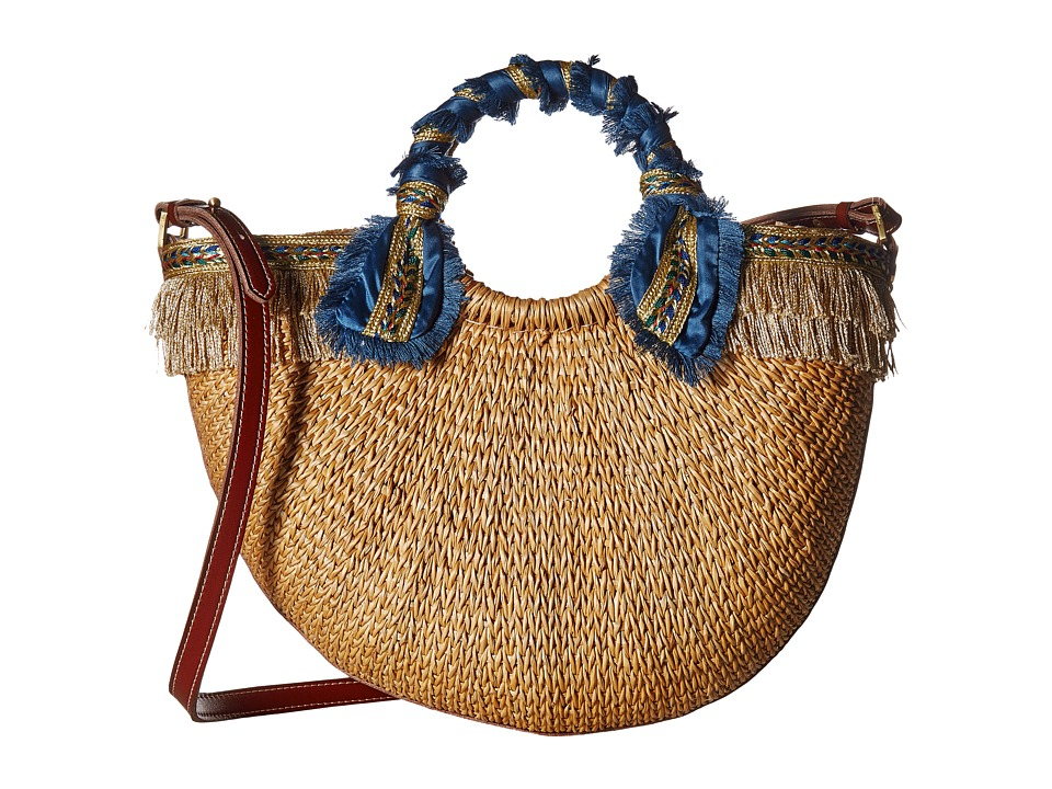 Sam Edelman - Lianna Metallic Fringed Straw Tote (Gold Multi) Tote Handbags