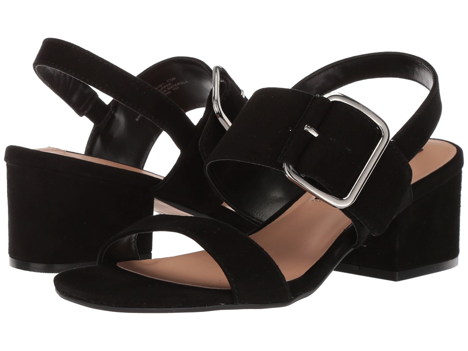 Steven - Fond (Black Suede) Women's Sandals