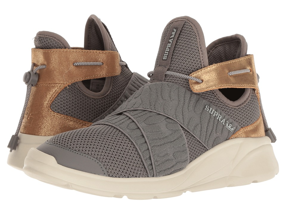 Supra Anevay (Dark Grey/Champagne/Bone) Women's Skate Shoes