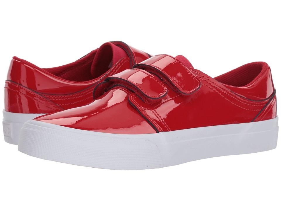 DC Trase V SE (Red) Women's Skate Shoes